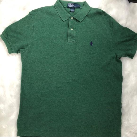 Men's Polo by Ralph Lauren Dark Green Polo Shirt